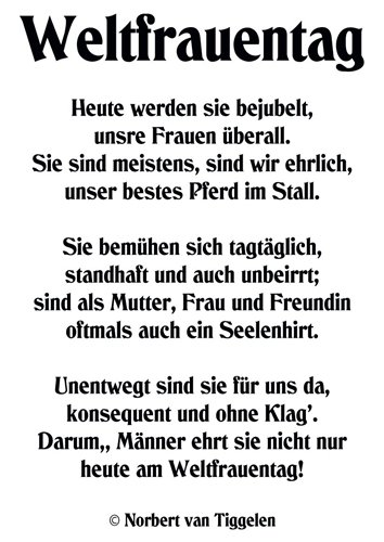 WELTFRAUENTAG - lustich.de