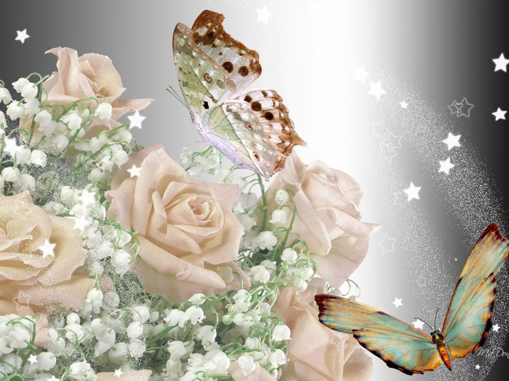 Фото букетов цветов блестящий